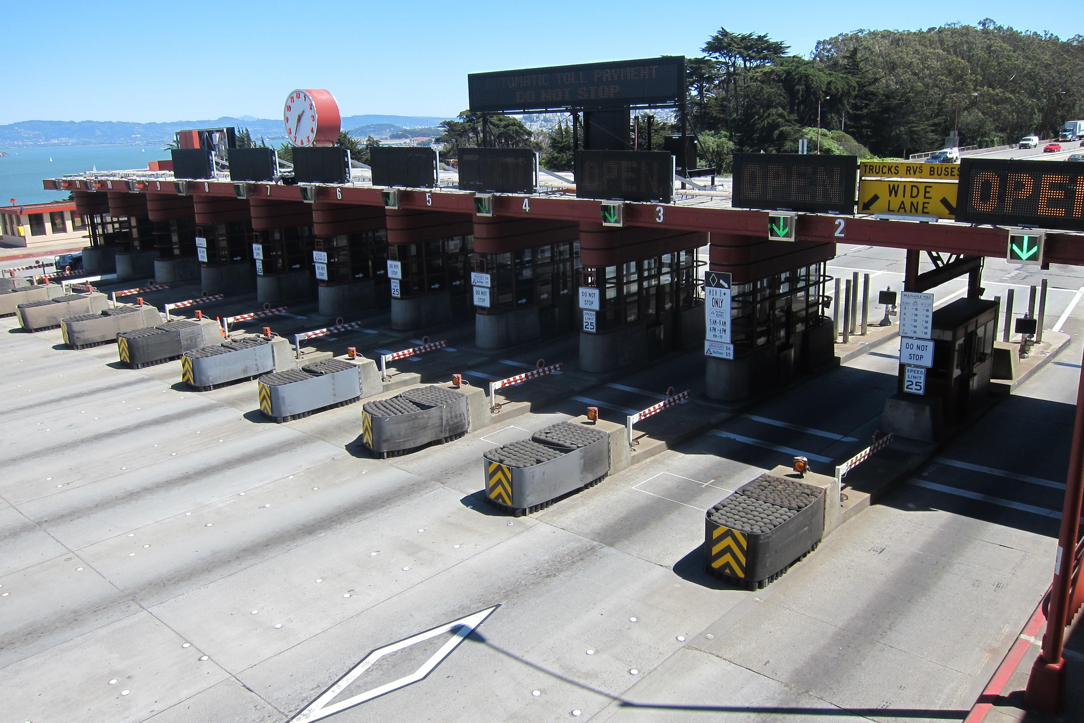 W Trans Golden Gate Bridge Toll Plaza Striping Plans